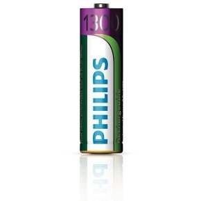 Philips AA 1300mAh Rechargeable Battery - Pack of 4