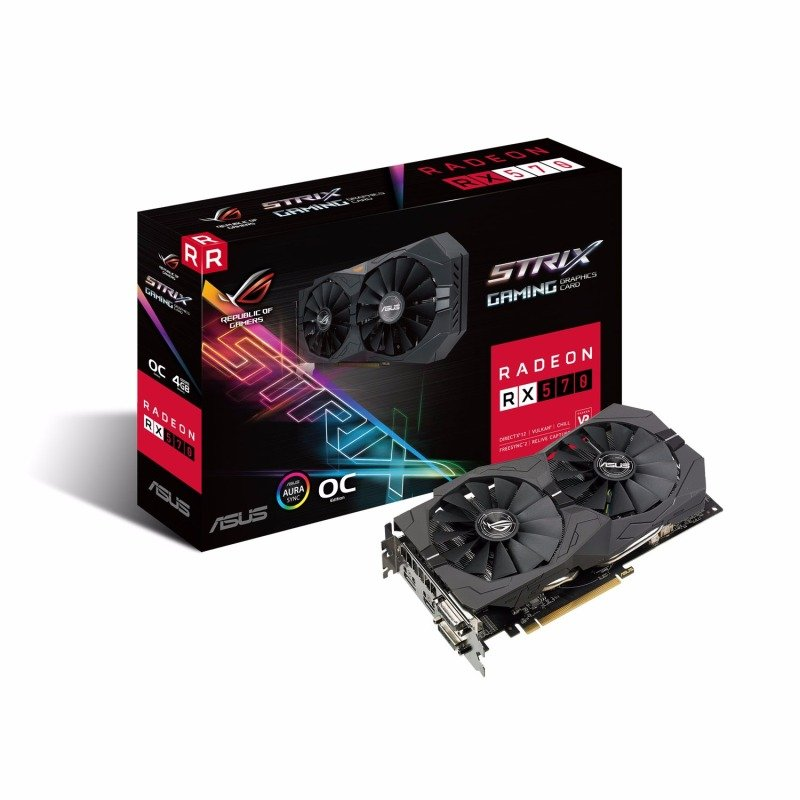 Asus RX 570 4GB OC ROG STRIX Graphics Card