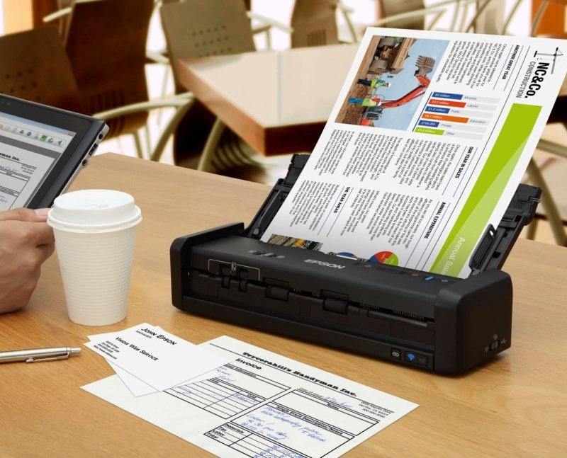 Epson Workforce DS-360W Portable Scanner
