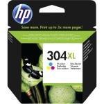 HP 304XL Tri-Colour OriginalInk Cartridge - High Yield 300 Pages - N9K07AE