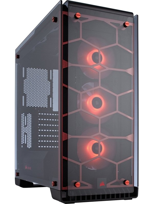 Corsair 570X RGB Tempered Glass ATX Case - Red