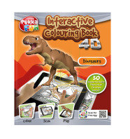 Pukka Fun 4D Augmented Reality Interactive Colouring Book - Dinosaurs
