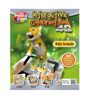 Pukka Fun 4D Augmented Reality Interactive Colouring Book - Baby Animals