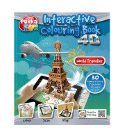 Pukka Fun 4D Augmented Reality Interactive Colouring Book - World Traveller