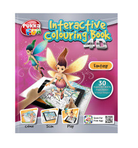 Pukka Fun 4D Augmented Reality Interactive Colouring Book - Fantasy