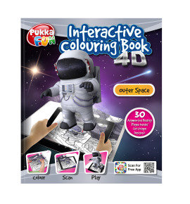 Pukka Fun 4D Augmented Reality Interactive Colouring Book - Outer Space