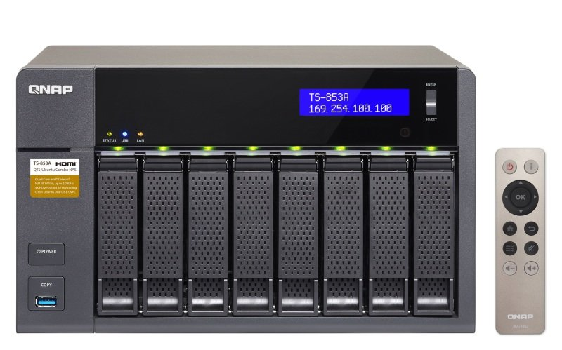QNAP TS-853A-8G 48TB (8 x 6TB WD GOLD) 8 Bay NAS with 8GB RAM