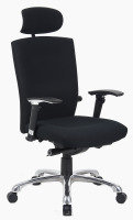 HH Solutions Wave Extra Fabric Chair - Black