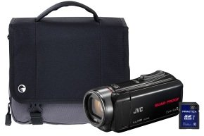 JVC GZ-R435 Black Quad Proof Camcorder Kit inc 32GB SD Card and Case
