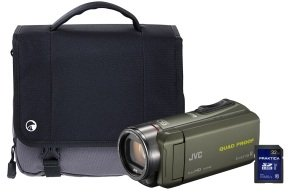 JVC GZ-R435 Green Quad Proof Camcorder Kit inc 32GB SD Card and Case