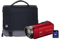 JVC GZ-R435 Red Quad Proof Camcorder Kit inc 32GB SD Card and Case