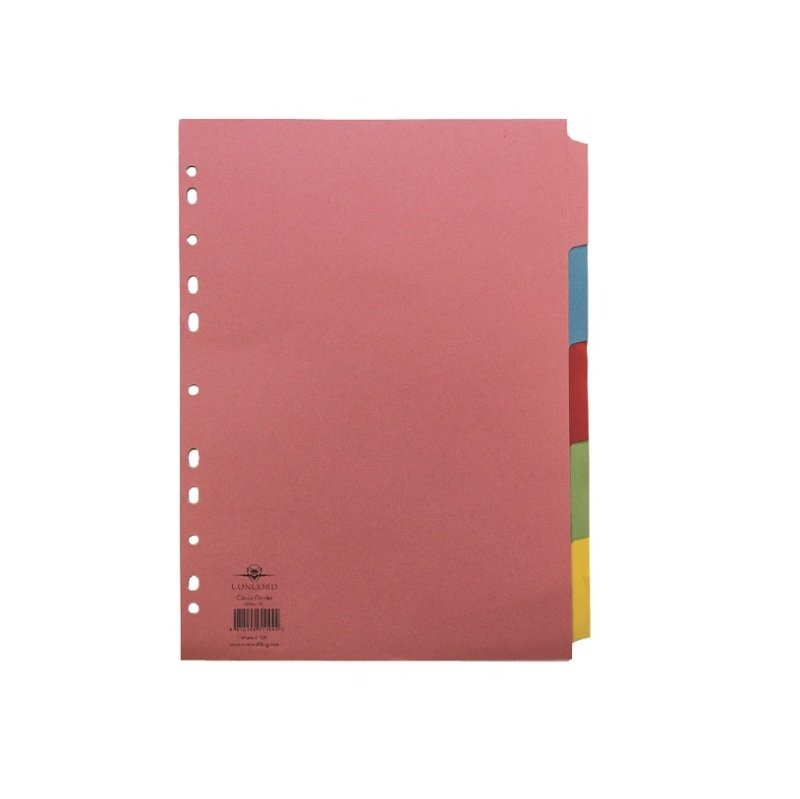 Concord Pastel A4 5-Part Subject Dividers (1 Set of 5 Pack)