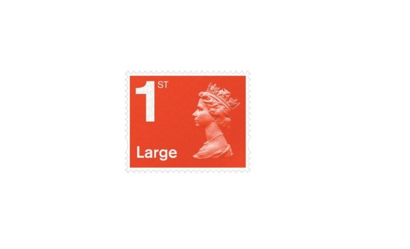 Royal Mail Large Letter 1st Class Postage Stamp - 4 Pack