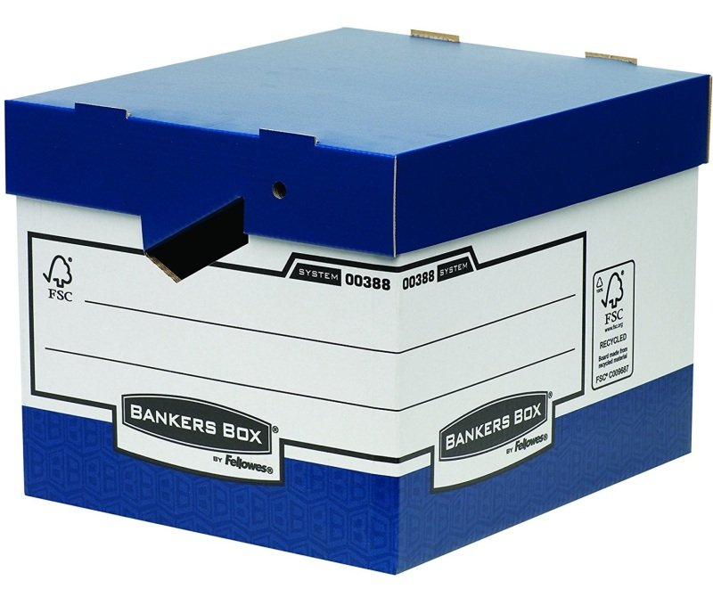 Image of Bankers Box System Heavy Duty Storage Box with Ergonomic Handles - 10 Pack