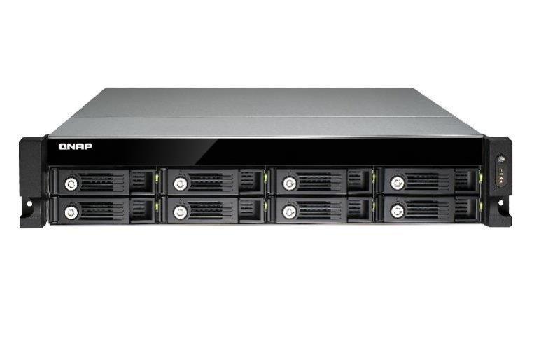 QNAP TVS-871U-RP-I3-4G 64TB (8x8TB SGT-IW) 8 Bay Rack with 4GB RAM