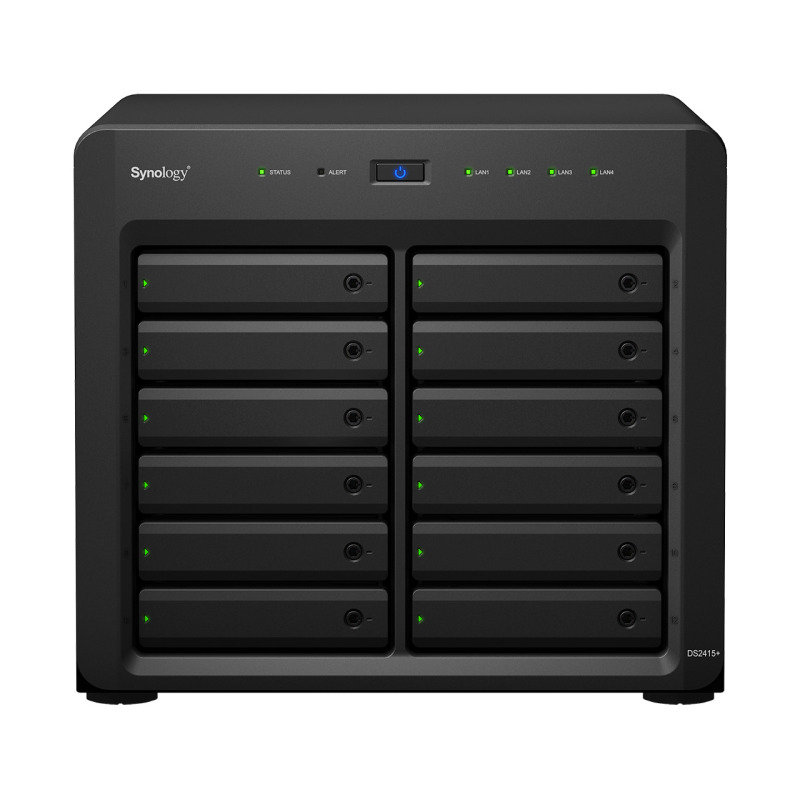 Synology DS2415+ 120TB (12 x 10TB WD RED PRO) 12 Bay Desktop NAS