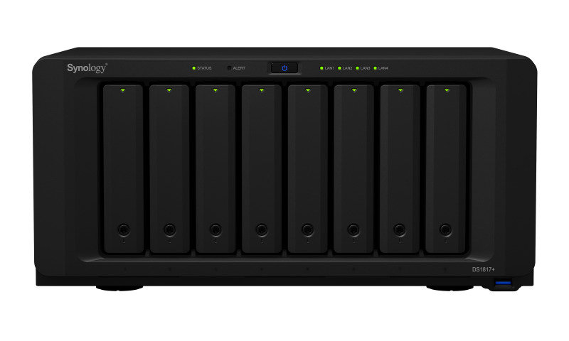 Synology DS1817+ (2GB) 64TB (8 x 8TB WD GOLD) 8 Bay NAS with 2GB RAM
