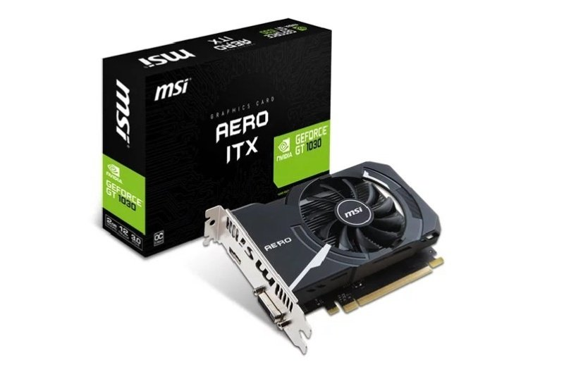 MSI GeForce GT 1030 AERO ITX 2GB OC Graphics Card