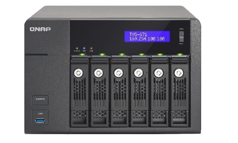 QNAP TVS-671-I3-4G 60TB (6 x 10TB WD GOLD) 6 Bay NAS with 4GB RAM