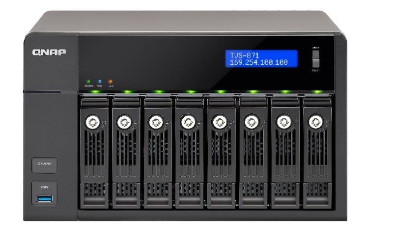 QNAP TVS-871-I5-8G 80TB (8 x 10TB WD GOLD) 8 Bay NAS with 8GB RAM