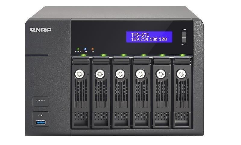 QNAP TVS-671-I5-8G 60TB (6 x 10TB WD GOLD) 6 Bay NAS with 8GB RAM