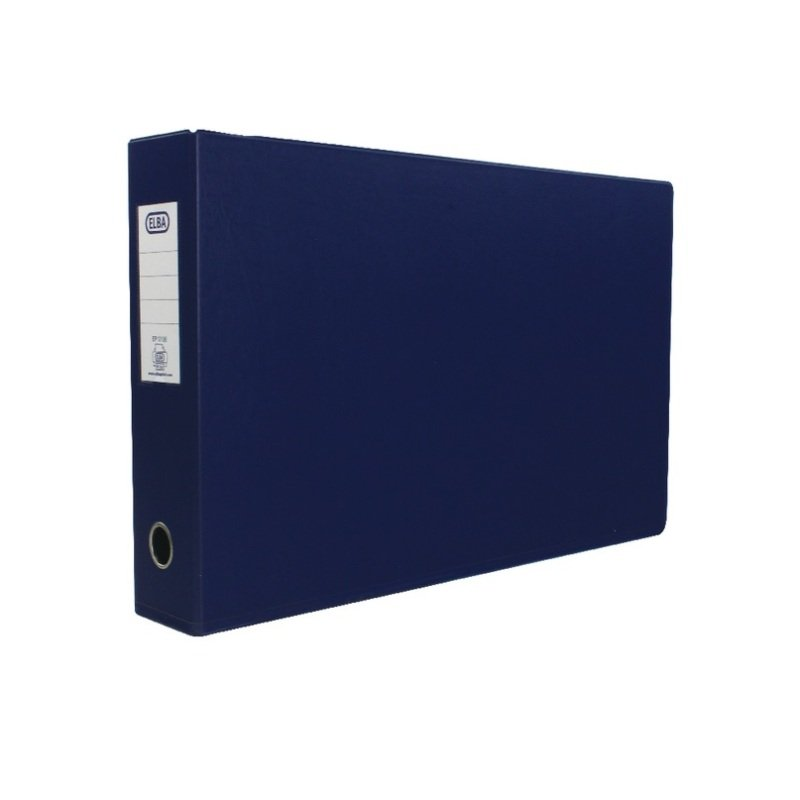 Elba A3 70mm Blue Plastic Lever Arch File - 2 Pack
