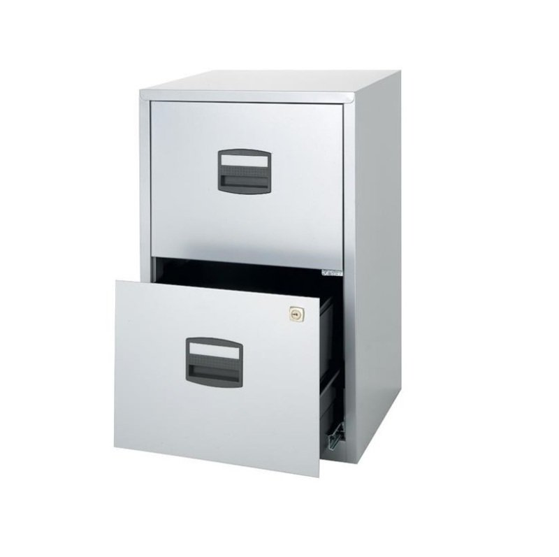 Image of Bisley A4 Personal Filing 2 Drawer Lockable Grey