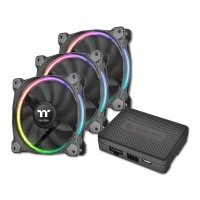 Thermaltake Riing12 LED RGB Premium Edition 120mm Fan 3 Pack