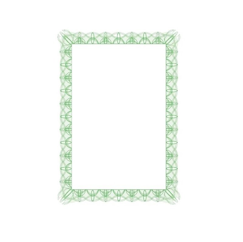 Computer Craft Certificate Paper A4 Green Wave [Pack 30]