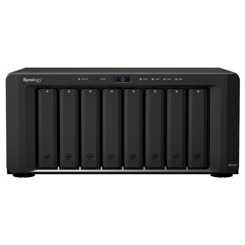 Synology DS1817 80TB (8 x 10TB WD GOLD) 8 Bay Desktop NAS