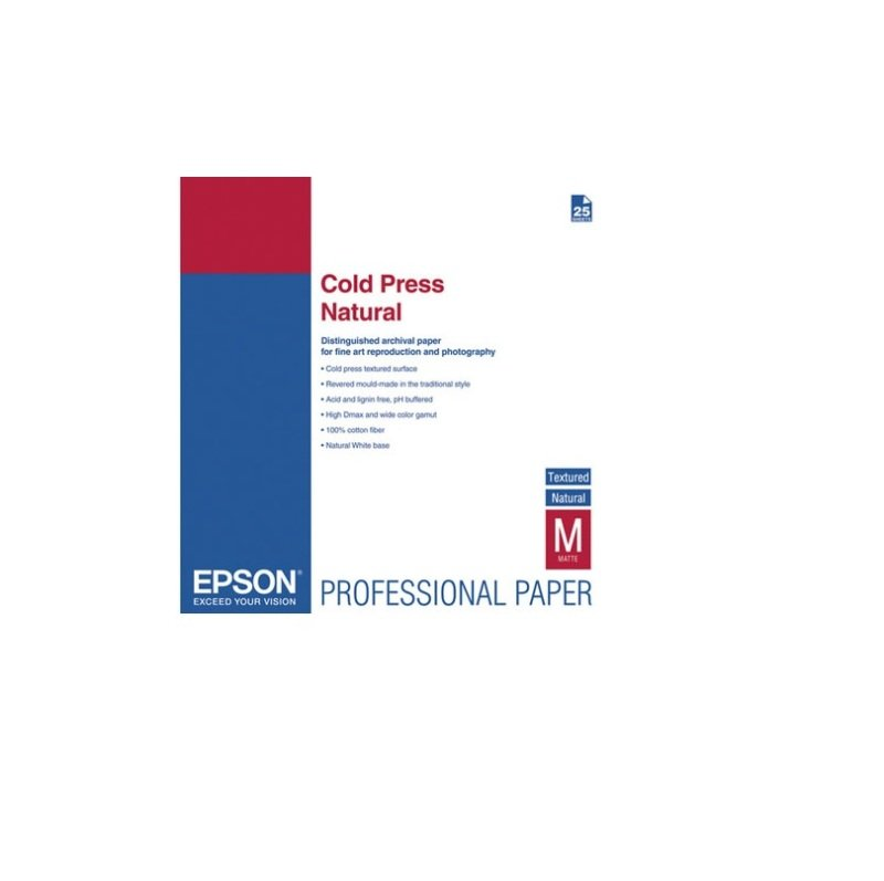 Image of Epson Cold Press Natural, A3+, 25 Blatt inkjet paper