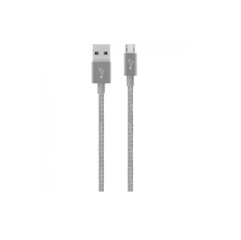 Belkin Grey Metallic 1.2M Micro-USB to USB Cable