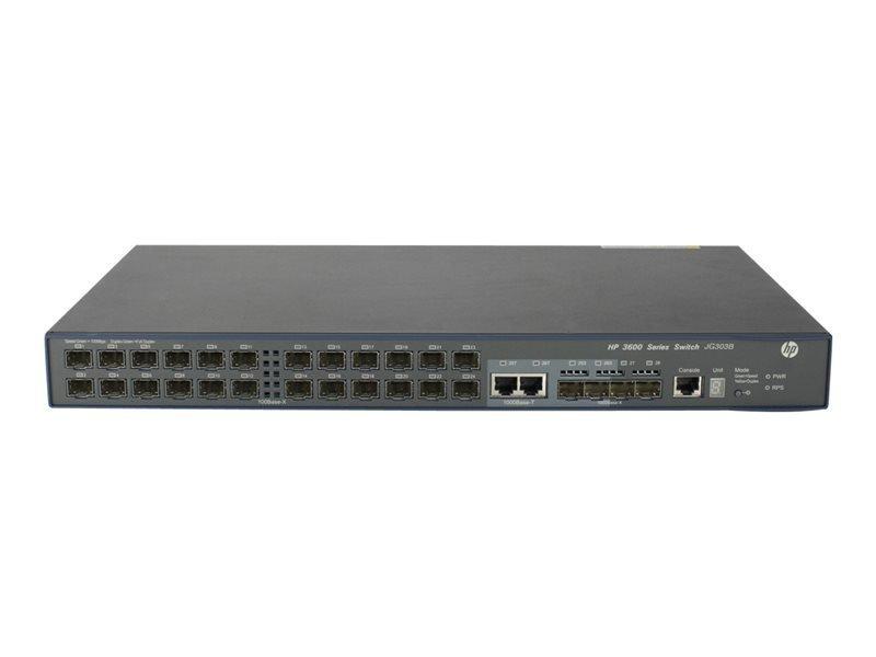 HPE 3600-24-SFP v2 EI 24 Port Managed Switch