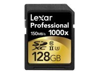 EXDISPLAY Lexar Professional 128GB SDXC UHS-II Flash Memory Card