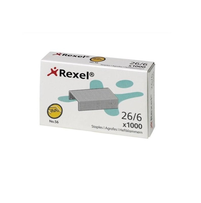 Rexel No.56 Staples 6mm - Pack of 5000