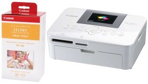 Canon SELPHY CP1000 White Compact Photo Printer Inc Ink and Paper Set