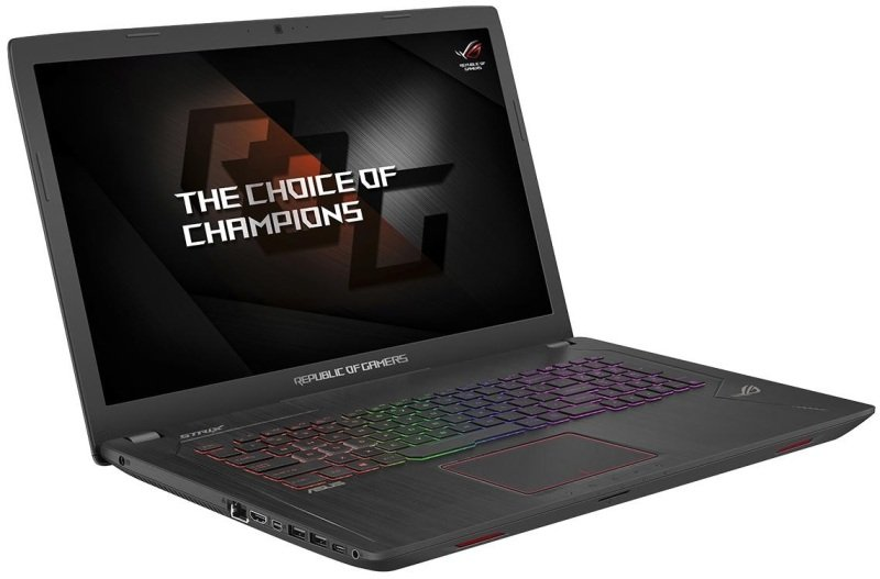 "Image of ASUS ROG Strix GL753 Gaming Laptop, Intel Core i5-7300HQ 2.5GHz, 8GB DDR4, 1TB HDD, 128GB SSD, 17.3"" Full HD, No-DVD, NVIDIA GTX1050 2GB, WIFI, Webcam, Bluetooth, Windows 10 Home 64bit"