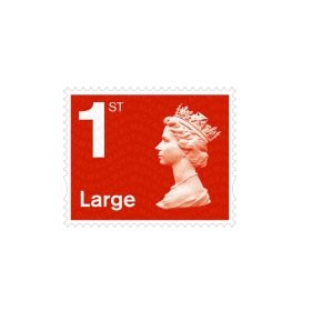 Royal Mail 1st Class Large Postage Stamps - 50 Pack