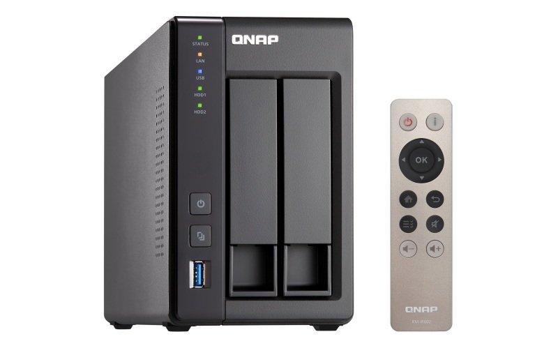 QNAP TS-251+-2G 16TB (2 x 8TB TOSH N300) 2 Bay NAS Unit with 2GB RAM