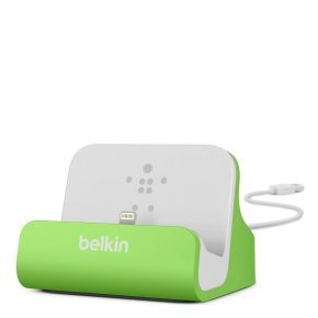 Belkin Iphone 5 Charge and Sync Desktop Dock -  Green