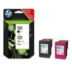 HP 121 2-pack Black/Tri-colour Original Ink Cartridges