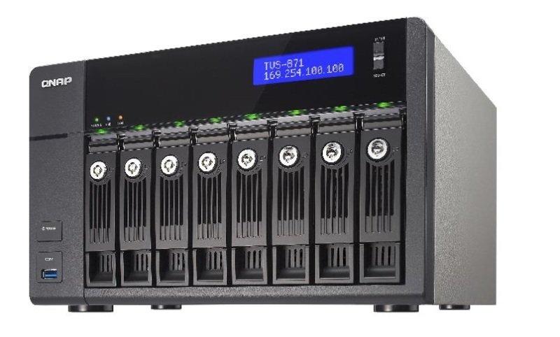 QNAP TVS-871-I5-8G 80TB (8 x 10TB SGT-IW) 8 Bay NAS with 8GB RAM
