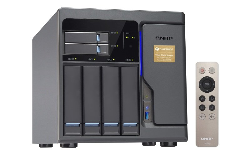 QNAP TVS-682T-i3-8G 40TB (4 x 10TB WD RED) 6 Bay NAS with 8GB RAM
