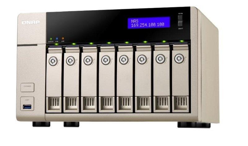 QNAP TVS-863-4G 64TB (8 x 8TB WD GOLD) 8 Bay NAS Unit with 4GB RAM