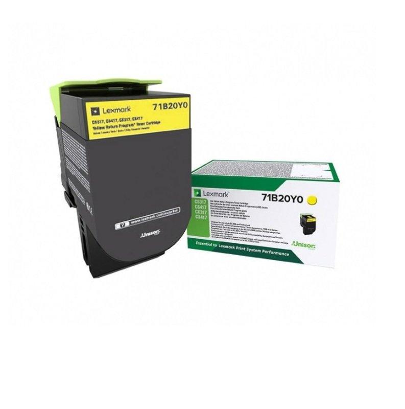 Lexmark Yellow Return Programme Toner Cartridge