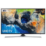 "Samsung UE40MU6120 HDR 4K Ultra HD Smart TV, 40"" with TVPlus, Black"