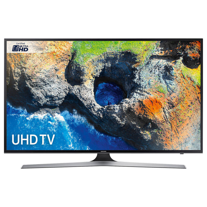 "Samsung UE40MU6120 HDR 4K Ultra HD Smart TV, 40"" with TVPlus, Black"
