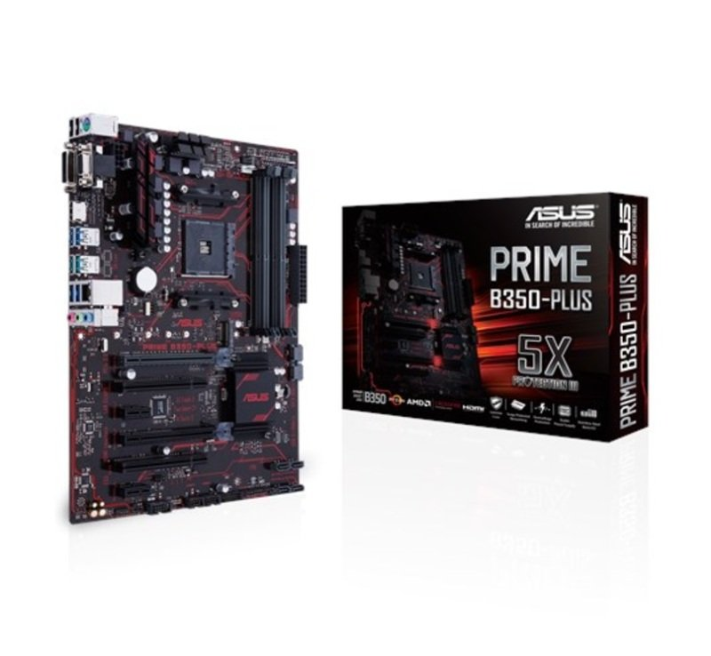 Asus AMD PRIME B350-PLUS AM4 Socket ATX Motherboard
