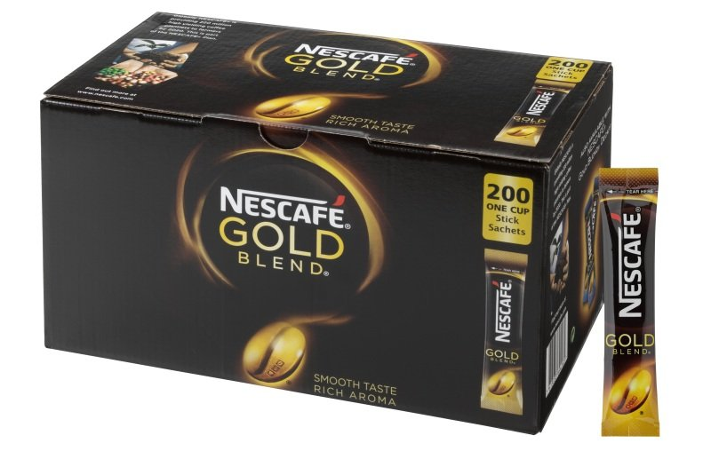 NESCAFÉ Gold Blend Instant Coffee Stick Packs - Box of 200