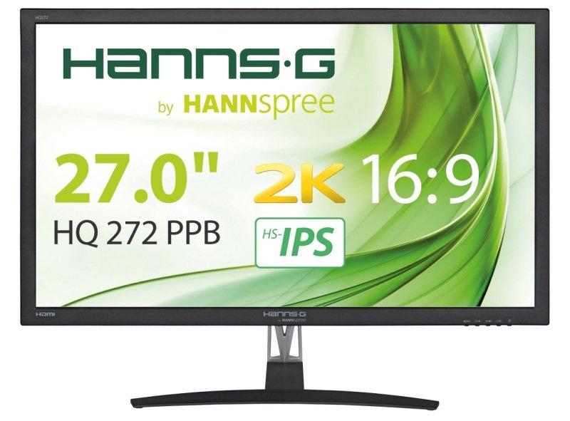 """HANNspree HQ272PPB 27"""" WQHD 2K IPS Monitor"""